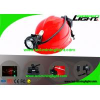 Buy cheap 15000Lux 392g Coal Underground Hard Hat Light , Mining Cap Lights with 6.8Ah from wholesalers
