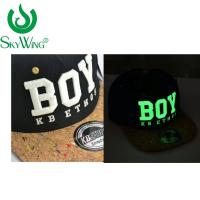 Adults Safety Flat Brim Golf Hats Ping 3D Glow In The Dark Embroidery Manufactures