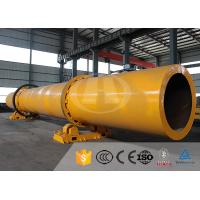 Horizontal Single Drum Dryers For Wood Chips , Silica Sand Rotary Dryer Manufactures