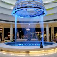 Programmable Musical Waterfall Decorative Indoor Fountain Digital Graphic Water Curtain Sprinkler For Indoor Decoration Manufactures