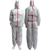 China Tear Resistant Clean Room Bunny Suit Anti - Shrink With Adhesive Sealed Tape on sale