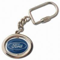 Ford Revolving Keychain, Made of Zinc-alloy Material, Available with Logos Manufactures