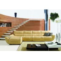 China L.P2087J-Yellow Italian Leather Corner Sofas from China on sale