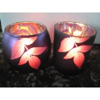 Rose color Glass Candle-holder Manufactures