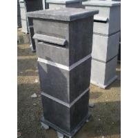 China Blue Stone Letterbox Mailbox Post on sale