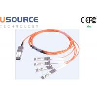 100G ethernet cable splitter 100G AOC Cable QSFP28 to 4x 25G SFP28 Manufactures