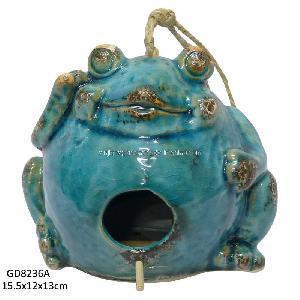Ceramic Frog Shape Bird House (GD8236A) Manufactures
