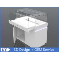 Wood Rectangle Custom Glass Display Cases For Jewelry With Lights and Lock Manufactures