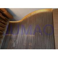 China Bended Track Metal Chain Link Curtains Hotel 4m * 6m Size Space Divider on sale