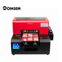 A4 Size Automatic UV Flatbed Printing Machine DOMSEM Easy Operate For DIY Phone Case Manufactures