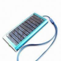 China Portable Solar Mobile Phone Charger with 1,350mAh Battery Capacity, Different Colors are Available on sale