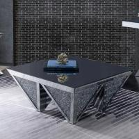 Unique design diamond shaped mirrored coffee table crushed diamond console table for living room Manufactures