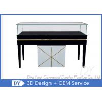Buy cheap Rectangle Wooden White Black Glass Display Plinth With Cabinet Lockable from wholesalers