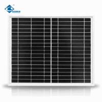 China 20W Mono Silicon Solar Panel for Home Solar Power System ZW-20W-18V-1 transparent glass solar panel on sale