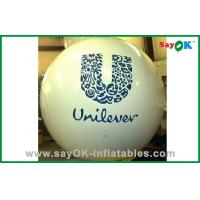 China Fireproof Personalised Helium Balloon PVC White For Advertising on sale