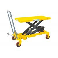 Heavy Weight Manual Lift Table , Materials Handling Small Hydraulic Lift Table Manufactures