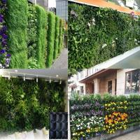 PE Fabric Reusable Hanging Flower Bags , Vertical Garden Planters For Vegetable Manufactures