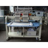 12 / 15 Colors Double Heads Embroidery Machine For Cap / T - shirt / Shoes / Flat Embroidery Manufactures