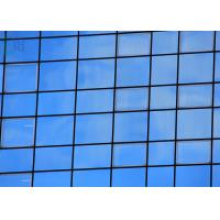 Quality Building Decoration Aluminium Curtain Wall Thermal Break Profiles Blue Color for sale