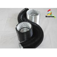 Flame Retardant Round Flexible Duct , Composite PVC Aluminum Flexible Vent Hose Manufactures