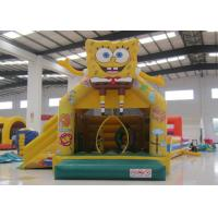 Lovely inflatable spongebob bouncer castle cute hot sale inflatable spongebob jump house with slide Manufactures