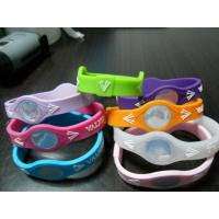 Colorful Energy Sports Silicone Bracelets With Hologram, Silkscreen Printing Pattern Manufactures
