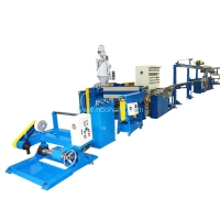 China 75KW 350m/min 70mm Screw PVC Cable Extruder Machine on sale