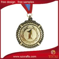 China cheap custom olympic medals with ribbon /custom medal maker on sale