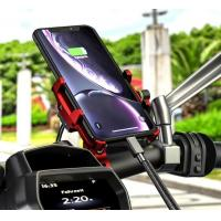 360 Degree Rotation Motorcycle Mount Bike Mobile Phone Holder With QC 3.0 Motorcycle Usb Charger Manufactures