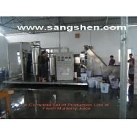 Quality A Complete Set of Production Line of Fresh Mulberry Juice for sale
