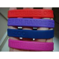 Quality Custom deboss or emboss silicone wristband | Silicone Bracelets for sale