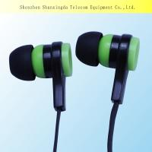 China 2015 SXD Sport earphone,earphone with mic,silicone earphone rubber cover earphones on sale