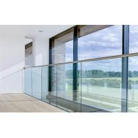 Core mount aluminum u base shoe/ channel glass railing with laminated glass Manufactures