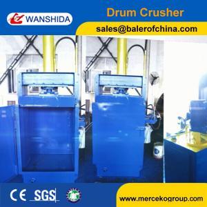 Drum Compactor Waste Oil Drum Baling Press Baler Drum Crusher Manufactures