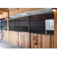 Horse Riding Club Prefab Horse Stalls, Powder Coated Metal Horse Stalls Manufactures