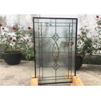 Contemporary Collection Solid Flat  Decorative Tempered Glass Windows Manufactures