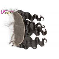 China Unprocessed Body Wave Ear To Ear Lace Frontal Closure 13x4 Remy Hair With Natural Color wholesale