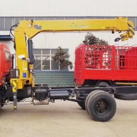 Buy cheap 10t Standard Tonnage Straight Arm Small Lorry Mounted Crane from wholesalers