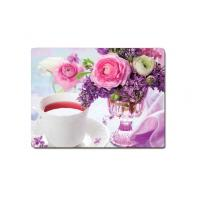 Decorative Flower PET Printing 3D Lenticular Plastic Table Mats Offset Printing Manufactures