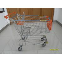 150L Metal Wire Shopping Trolley , Swivel TPE Casters Supermarket Shopping Trolley Manufactures
