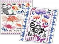 China Semi - transparent protective paper Customized temporary tattoo sticker for adults on sale