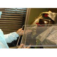 Food Baking Stainless Steel Mesh Tray For Vegetable Dehydration 10-15mm Hole Size Manufactures