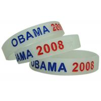 Purple / Yellow Glow In Dark Silicone Wristband Bracelet / Personalized Silicone Bracelets Manufactures
