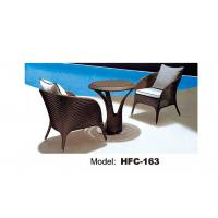 Rattan outdoor tables and chairs set rattan garden furniture table and chair set Manufactures