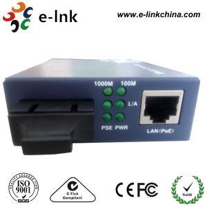 Gigabit Ethernet POE Fiber Optic Media Converter For POE IP Camera Single Mode Manufactures