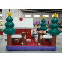 China Party Blow Up Christmas Tree Decoration , Giant Christmas Inflatables Bouncer House on sale