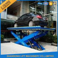 China CE Steel Hydraulic Scissor Car Lift with 3m Lift Height 3 T Load Capacity on sale
