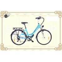 Aluminium Frame 26 Wheel Small Lady's Ebike , Li-ion Battery City Style Electric Bicycle Manufactures