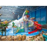 Spray Small Green Water Playground Equipment Red / Blue Slide Water Playground Manufactures