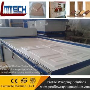 China Flat pvc sheet door vacuum membrane press machine on sale